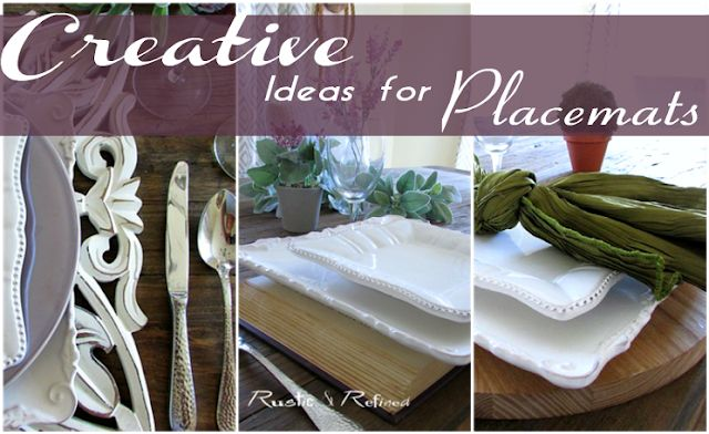 Entertaining Hacks with creative placemat ideas