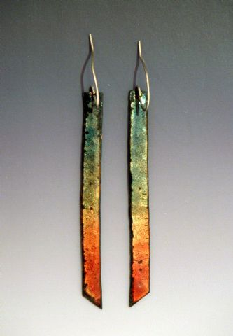 Rainbow Enamel Earrings