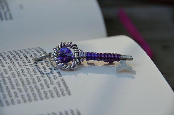 Purple Swarovski Crystal Key by GeekAtHeartShop on Etsy, $15.00