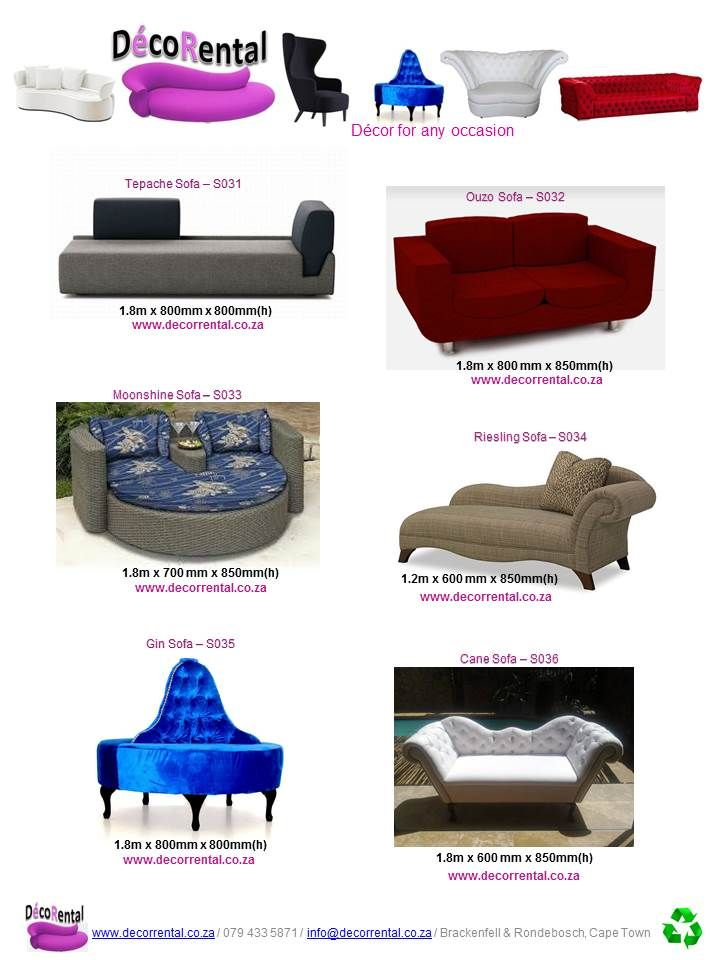 Decor furniture Rentals