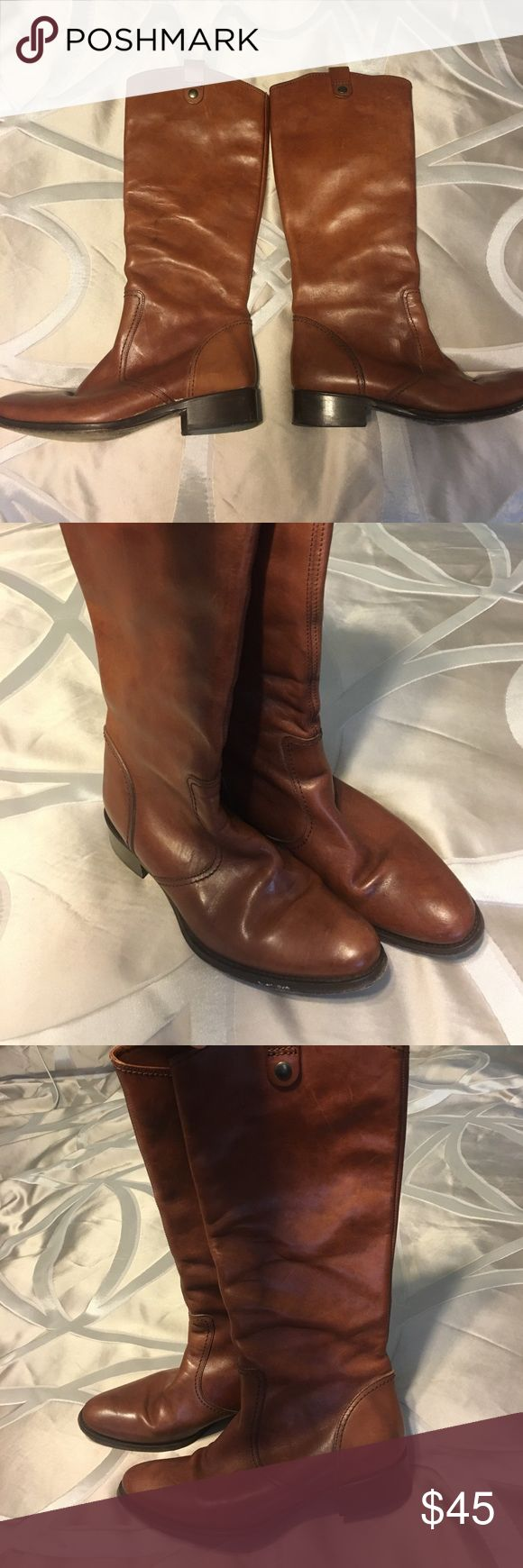 Kenneth Cole leather boots Gorgeous tan leather boots. Pull on style. Great quality riding boots. Kenneth Cole Shoes