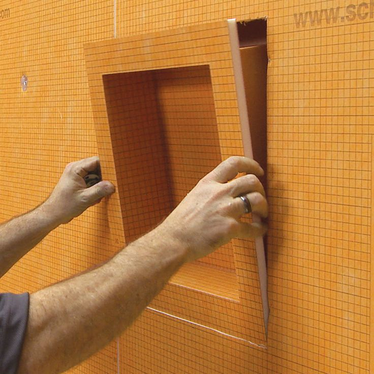 Schluter systems kerdi orange shower wall niche - Ditra shower system ...