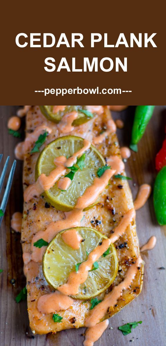Grilled Cedar Plank Salmon recipe, yields soft, juicy smoke flavored salmon with the right hint of herbs. | pepperbowl.com via @pepperbowl