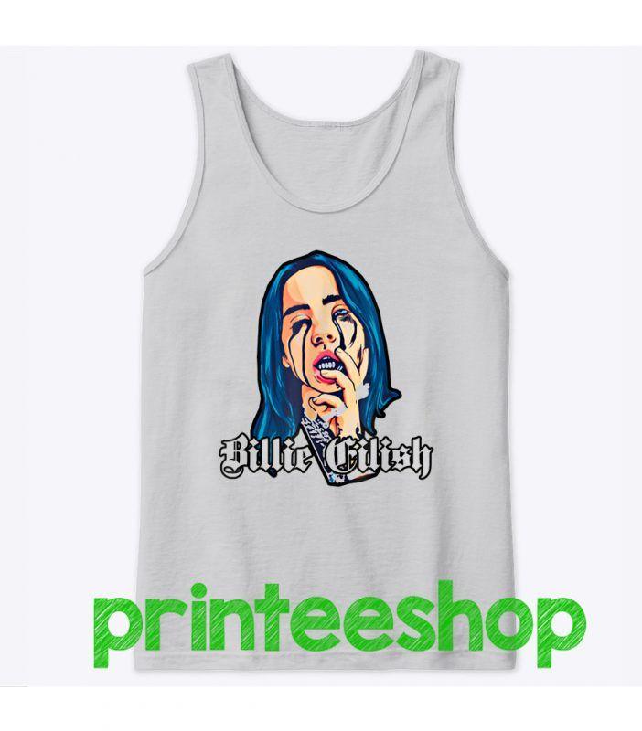 Billie Eilish Tank Top Website Name Tank Tops Tops Billie Eilish