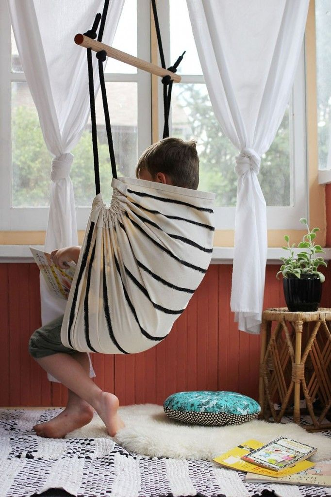 diy hammock chair create a swinging hammock chair for the home pinterest. Black Bedroom Furniture Sets. Home Design Ideas
