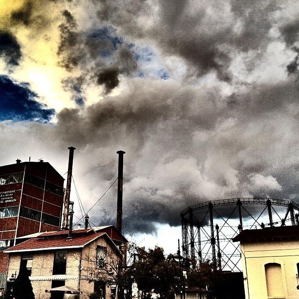 .@gtheodosiadis | #clouds #sky #athens #gazi #technopolis #buildings | Webstagram - the best Instagram viewer