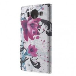Lumia 950 violetit kukat puhelinlompakko. #lumia950 #tyyliluuri #kuoret