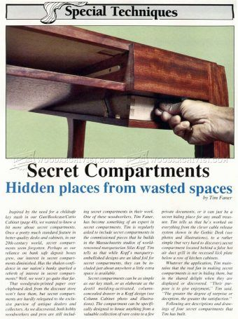 #1439 Secret Compartment Furniture   Furniture Plans And Projects