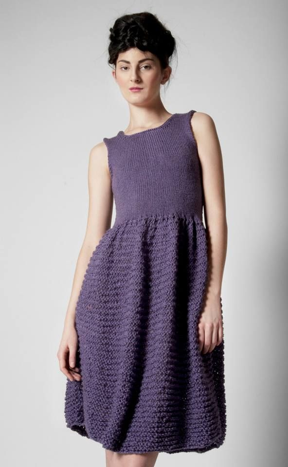 Pletené šaty - fialové