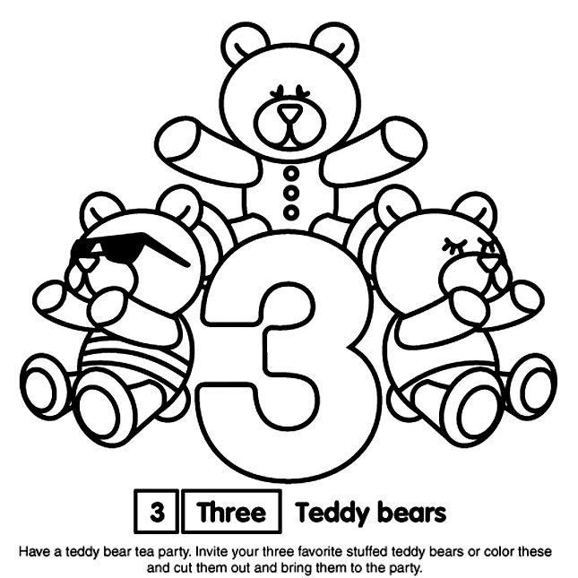 Number 3 Coloring Page Sesame Street Coloring Pages