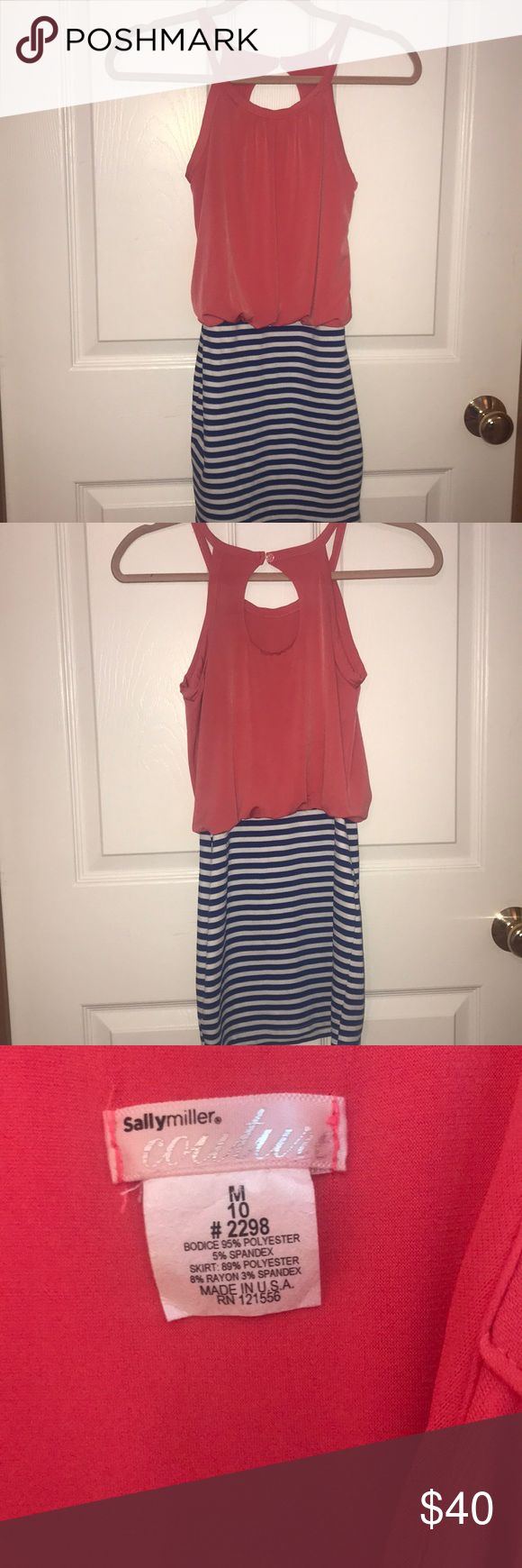 Sally Miller Couture dress with belt Sally Miller Couture dress! Great for the summer and super stylish! In great condition and only worn a few times! Comes with a belt! Sally Miller Dresses Formal