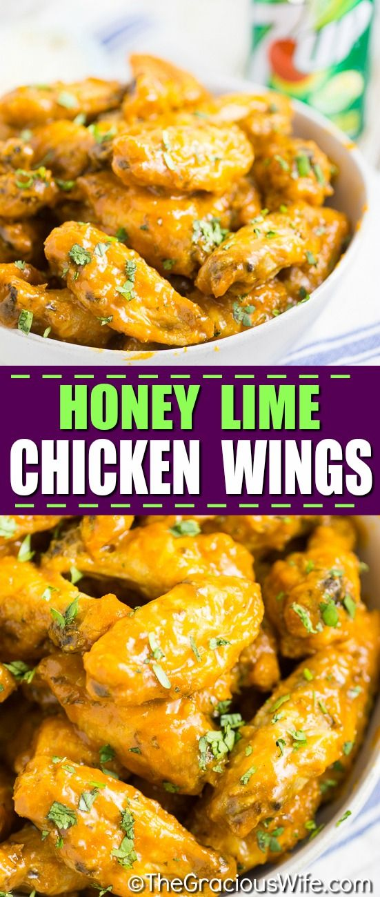Spicy, sticky Baked Honey Lime Chicken Wings are made with real limes, honey, and 7UP. Citrus and spicy, with a hint of honey sweetness, these Baked Honey Lime Chicken Wings may change the way you flavor your wings forever. The wings are oven baked, and tossed in a fresh zesty sauce that everyone will love.