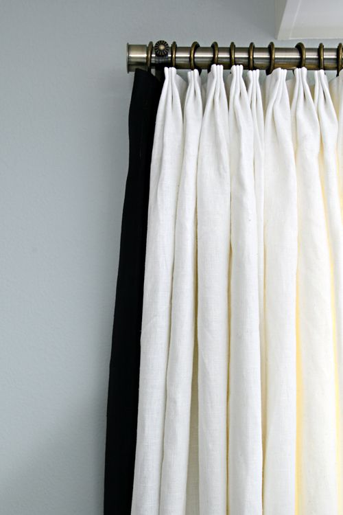 Be Simple, Black Linen, Challenge Week, Curtain Panels, Drapery Rods, Linen  Curtains, Custom Curtains, Hot Mess, White Linens