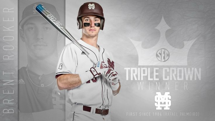 ! Brent Rooker is the first since 1984 to claim the SEC Triple Crown with his .387 batting average, 23 HRs & 82 RBIs!