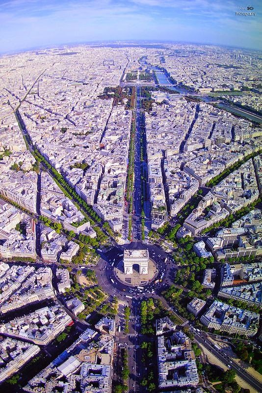 Champs Elysees, Paris, France. Is it bad that I thought this was the Death Star for two seconds?