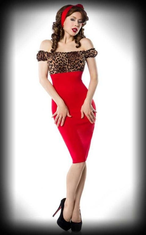 Belsira Pencil Skirt Kleid mit Leoparden-Muster - Wild Betty
