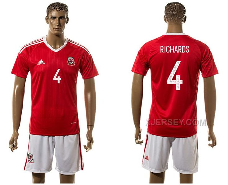 http://www.xjersey.com/wales-4-richards-home-euro-2016-jersey.html WALES 4 RICHARDS HOME EURO 2016 JERSEY Only $35.00 , Free Shipping!