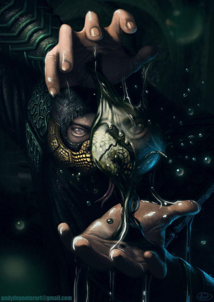 Mortal Kombat Reptile fan art by Andy De Pooter by Eburone on ...