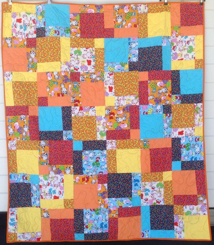 Sliced Twice – Farm Animals – Quilt 53 x 61 Inch Size