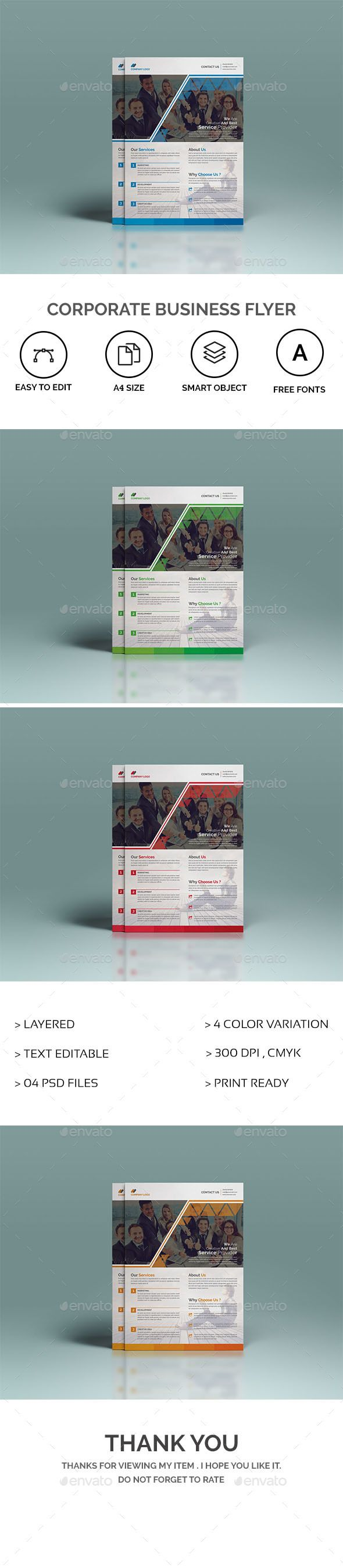 #simple #modern #creative #Corporate #Business #Flyer #template - #company #marketing #agency #service #Flyers #design. download here; https://graphicriver.net/item/corporate-business-flyer/20220018?ref=yinkira