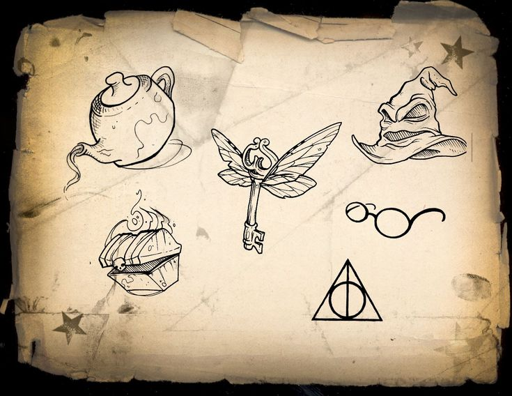 I love the flying key! Of course, if I were to get a HP tattoo, I'd have to reference something from my favorite book!