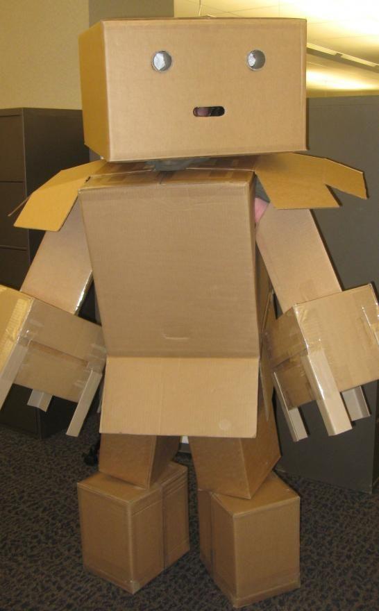 bo cardboard robot reading - photo #21