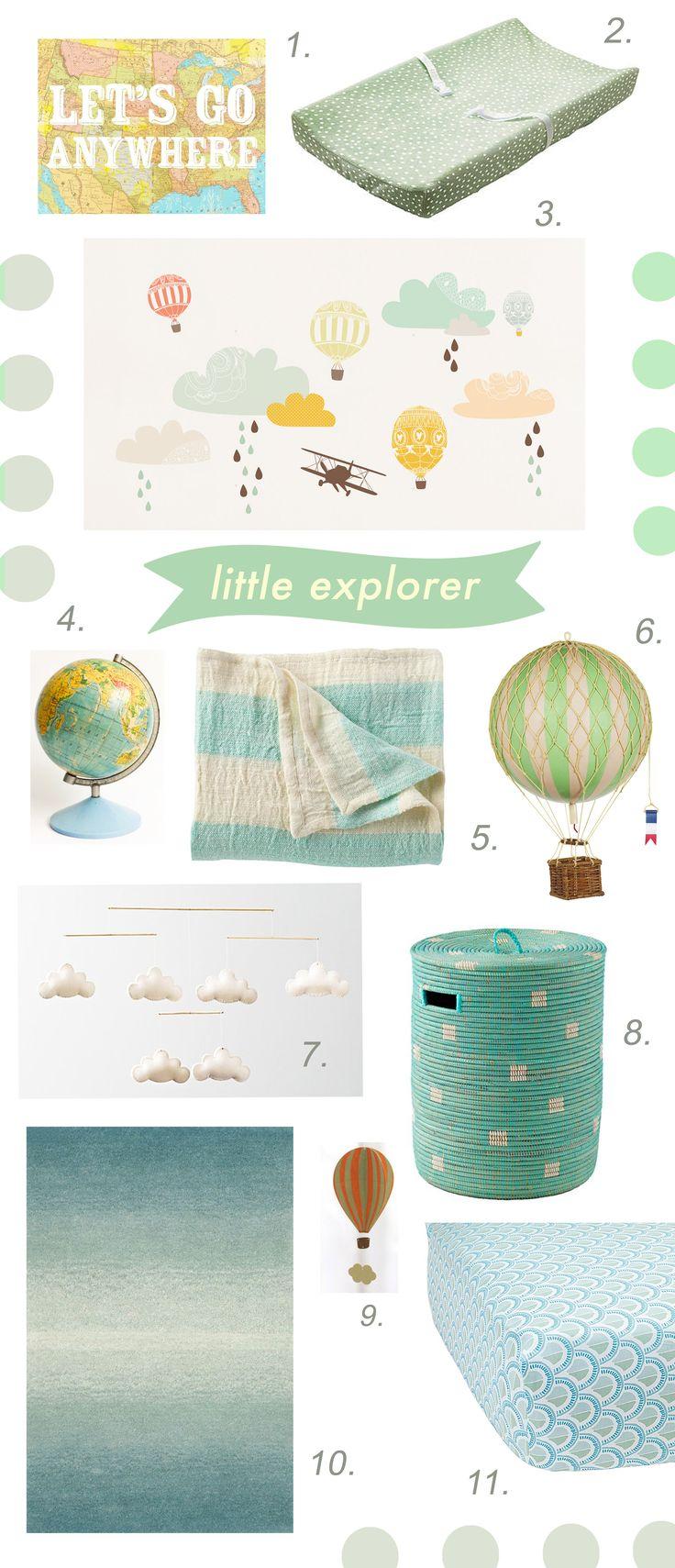 Little Explorer Nursery Theme // by Chachi Loves Design, Los Angeles // for sources visit: http://chachilovesdesign.tumblr.com/ @jessielathroum