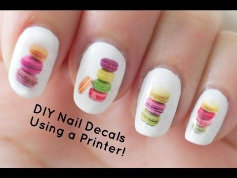 DIY Nail Art Decals Using a Printer oh my gosh this is such a good idea!!!