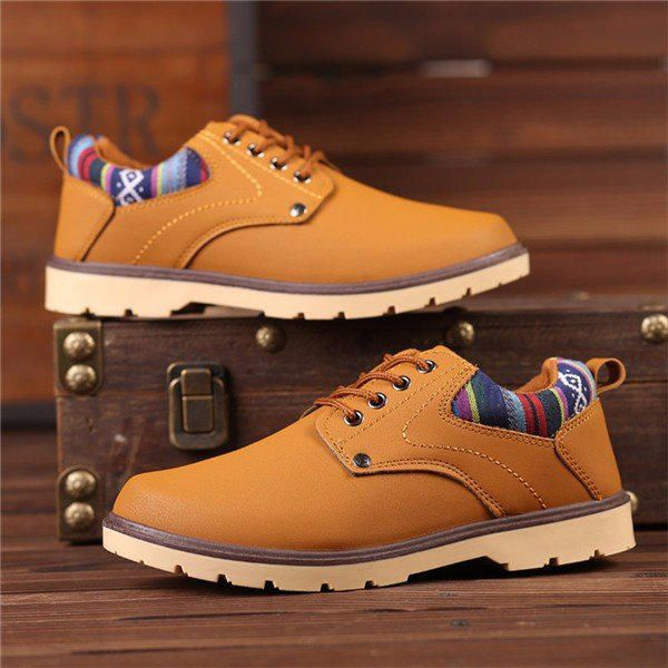British Lace Up Round Toe Oxford Shoes For Men - US$34.99