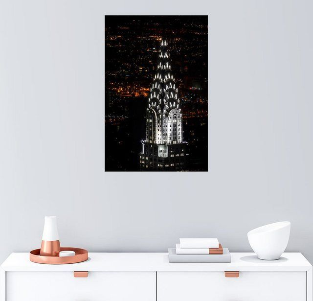 Wandbild – Michael Haußmann »Chrysler Building New York City by Night« #Products