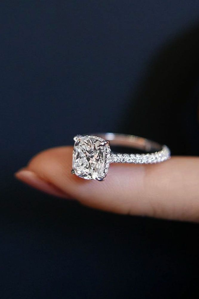 Perfect Solitaire Engagement Rings For Women ★ See more: http://ohsoperfectproposal.com/solitaire-engagement-rings/ #nails