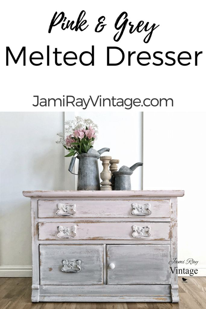 Pink and Grey Melted Dresser | Ashley Harris Home Makers Club | Video