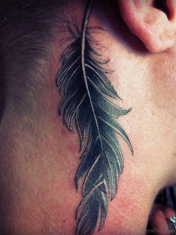 Image result for feather tattoo ear meaning