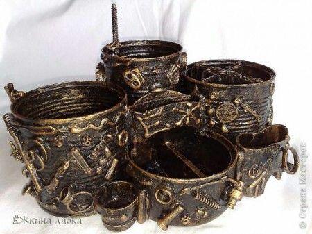 Органайзер 3. Имитация ковки  и состаренной бронзы
