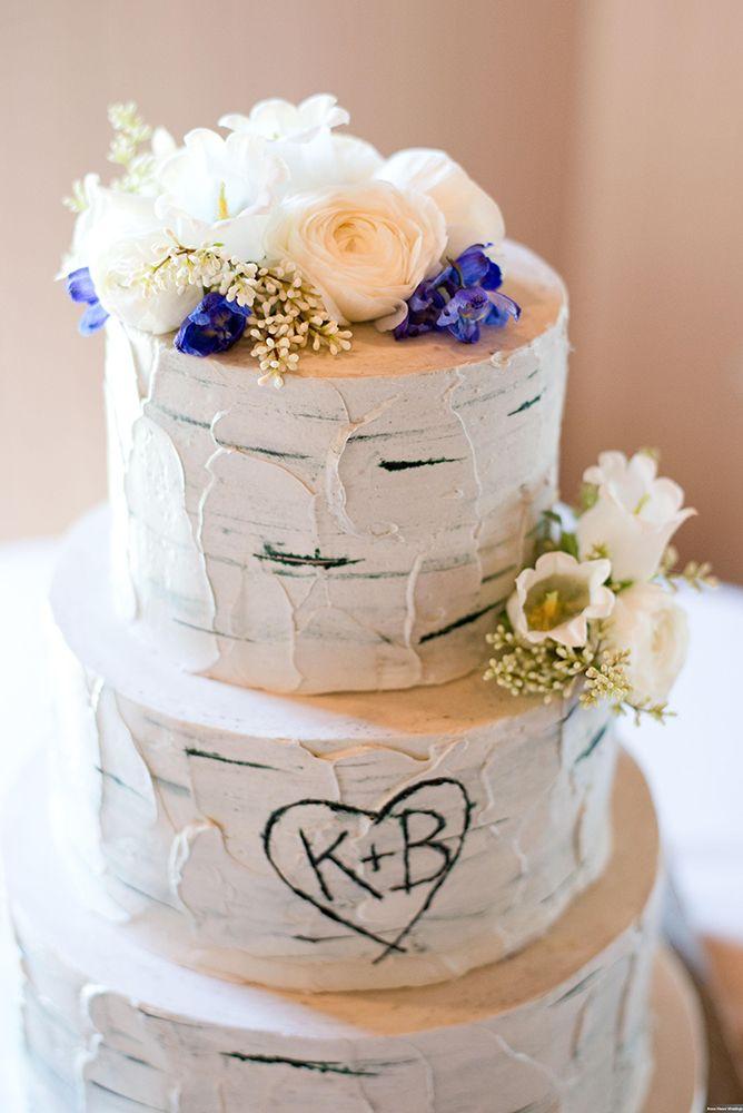 declare cakes wedding cakes charleston south carolina natural luxe birch tree wedding cake