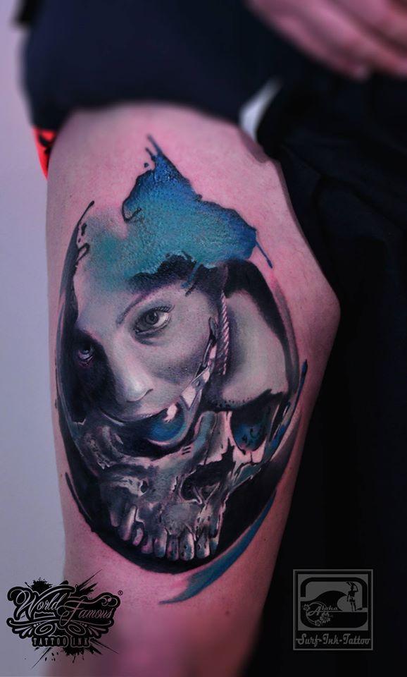 Trash-Style-Tattoo,Trash Tattoo,Trash Polka Tatoo,Trash-Polka-Tattoo,Tattoo Trash,Trash Tattoo Polka,Ted Bartnik,Surf-Ink-Tattoo,watercolor tattoo,watercolour tattoo,watercolor,watercolour,surf-ink-tattoo.de