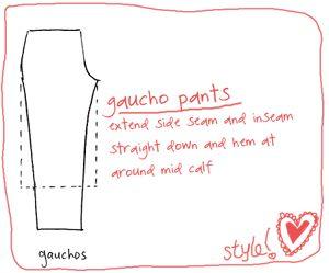 Diy Gaucho Pants