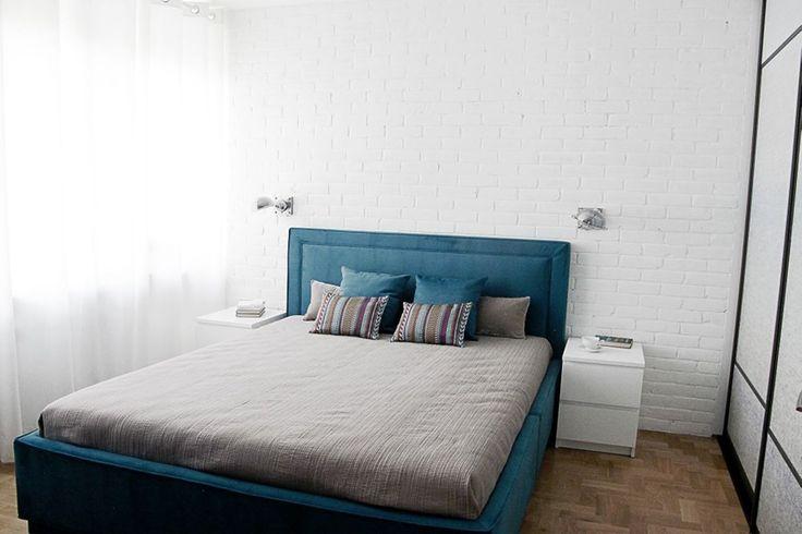 Большая спальня в минималистическом стиле(фото) /