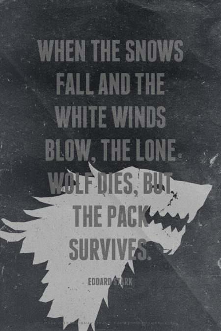 Game Of Thrones Quote Wallpaper When The Snows Fall And The White Winds Blow The Lone