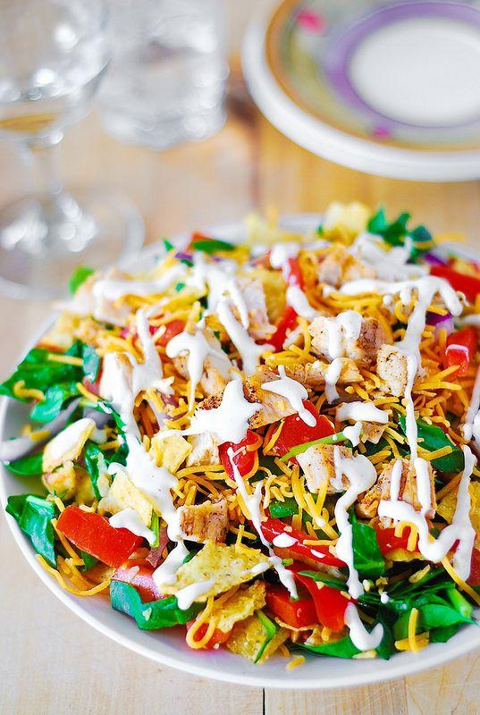Healthy And Tasty Chicken Taco Salad
