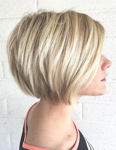 Bob Blonde Layered Fein Balayage Jahr