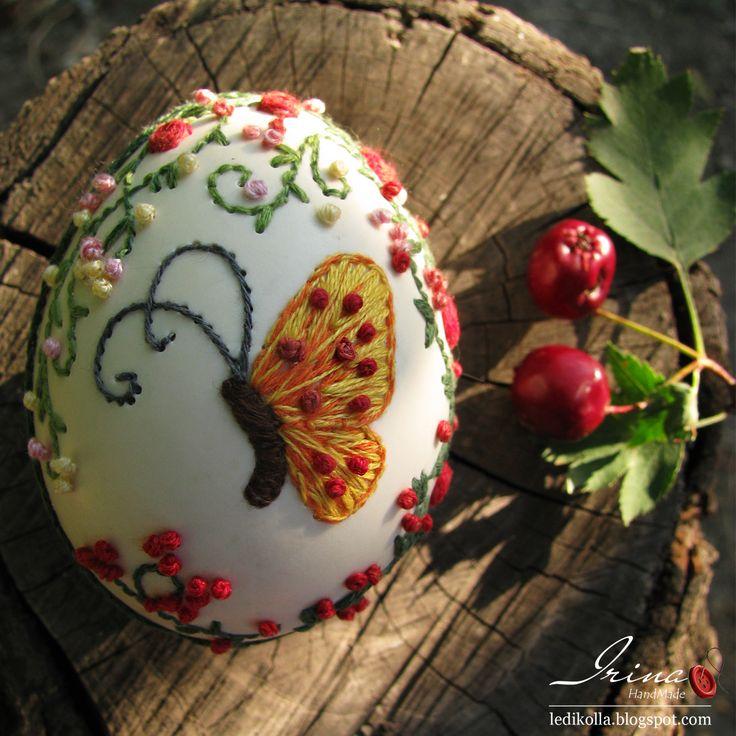 Oranje Mood: Borduren op eierschalen.