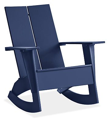Emmet Outdoor Rocker   Modern Outdoor Chairs U0026 Chaises   Modern Outdoor  Furniture   Room U0026