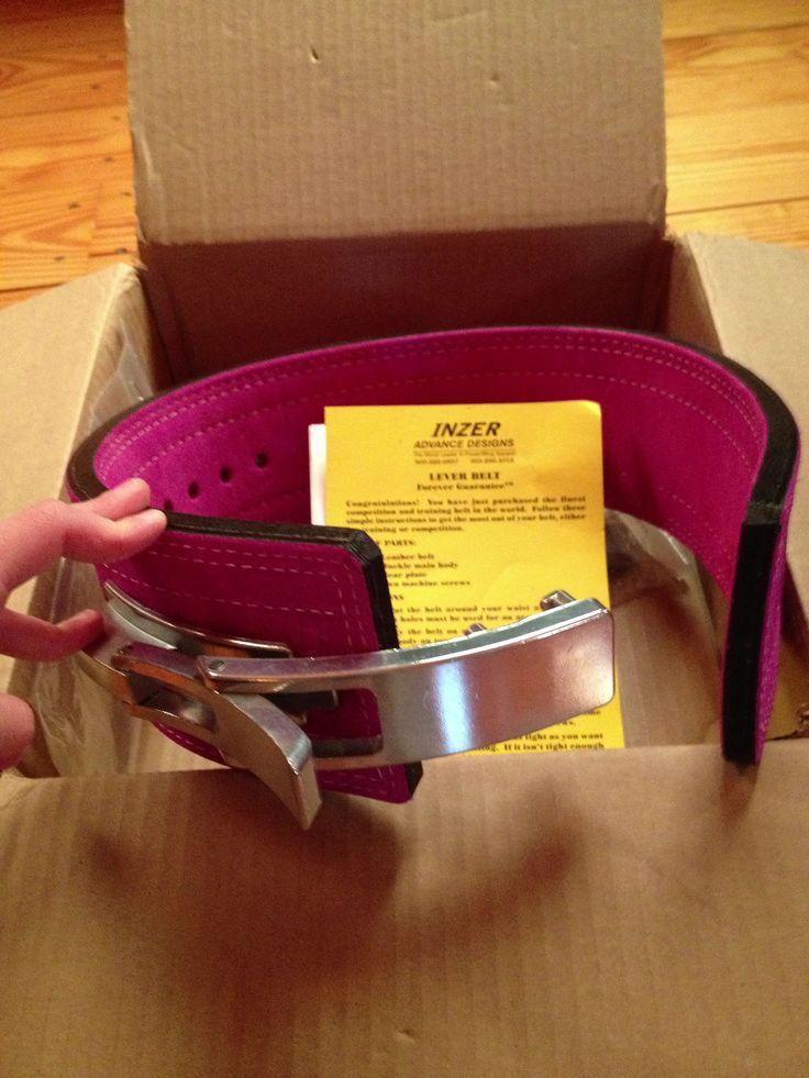 My pink Inzer belt! Love!!! Powerlifting, fitness, figure, squat ...