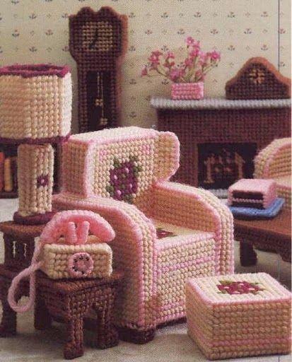 Plastic Canvas Furniture For Barbie Tami Macias Picasa Web Albums Camvas Pinterest