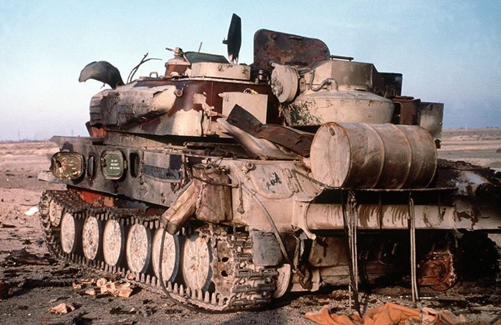 "Iraqi antiaircraft SPG ZSU-23-4 ""Shilka"" destroyed during Desert Storm in 1991"