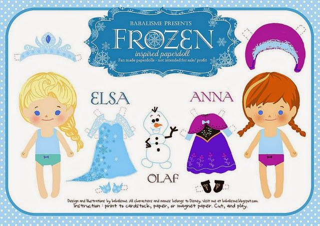 Ms de 25 ideas increbles sobre Muecas de papel frozen en