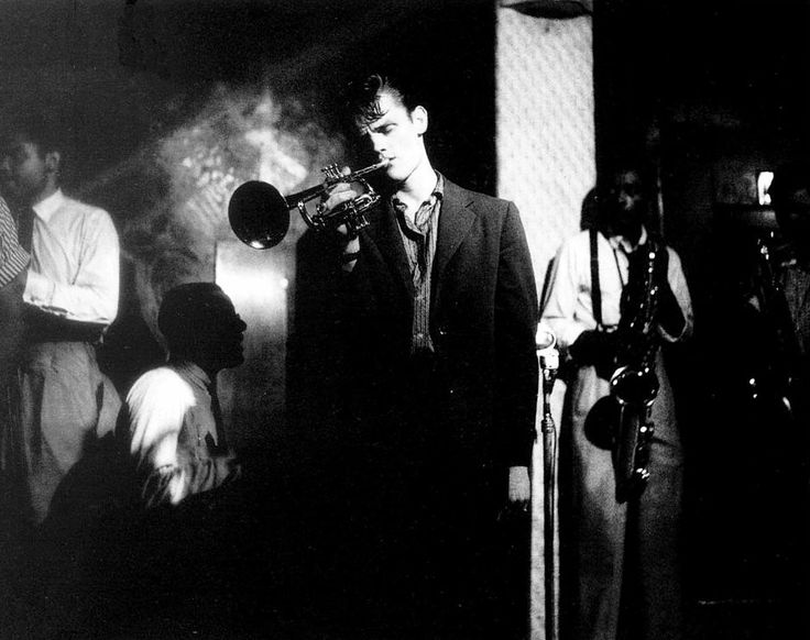 Chet Baker in concert, 1954, photo by William Claxton