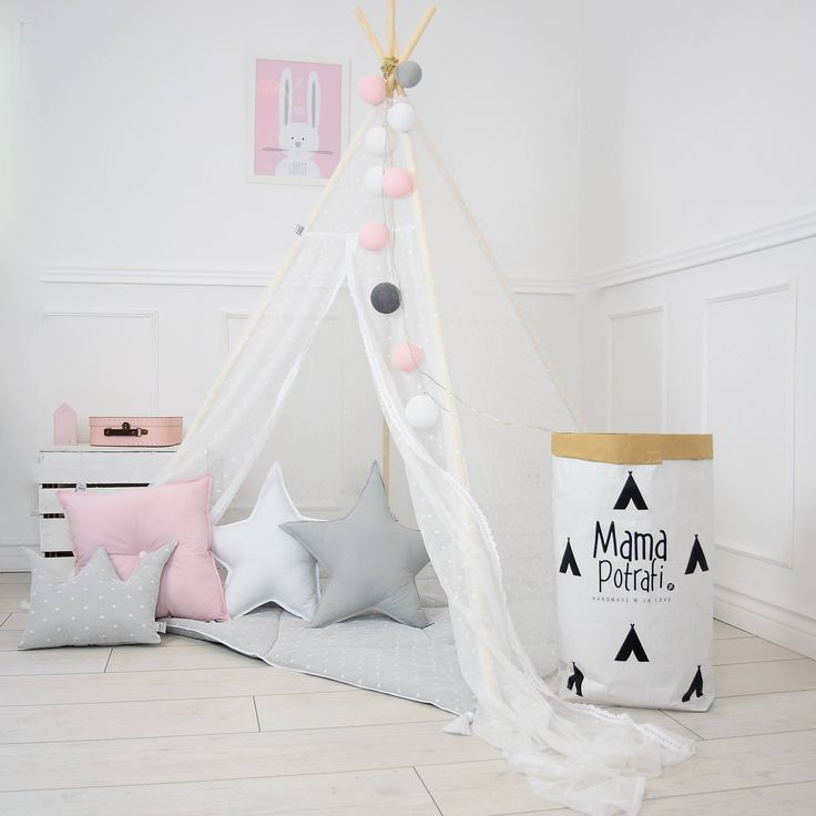 Play Tent, Lace Teepee, Tipi, White Teepee Tent, Teepee Enfant, Child Teepee, Wigwam, Reading Lamp, Nursery Tent, Play Mat, Zelt by MamaPotrafi on Etsy
