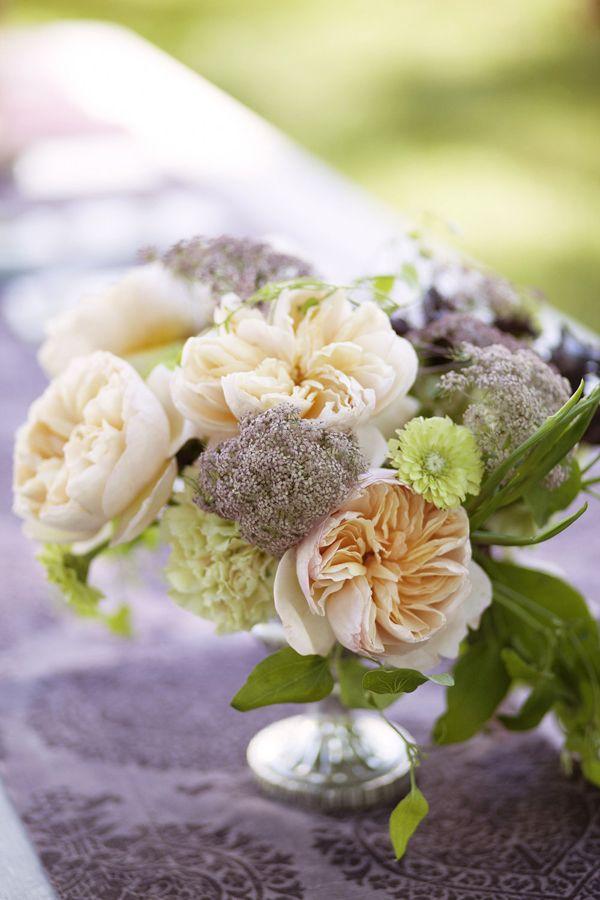 Centerpiece (Floral Design: Ariella Chezar) - Laura & Robert | Late Summer Farm Wedding in Vermont by Belathée - via Snippet & Ink